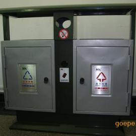 金属果皮箱 广告垃圾桶  分类不锈钢垃圾桶