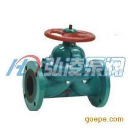 隔膜阀:G41J-10衬胶手动隔膜阀