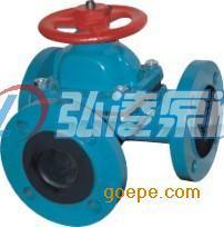 隔膜阀:G49J-10三通式衬胶隔膜阀
