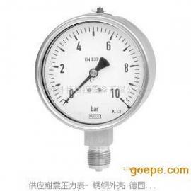 德国威卡WIKA 耐震压力表- 不锈钢外壳