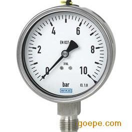 德国WIKA 233.50 防震不锈钢压力表