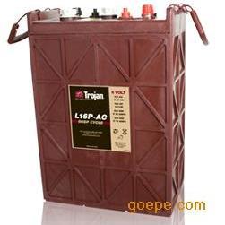 美国Trojan L16 P洗地机蓄电池 工业牵引电瓶