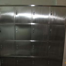 不锈钢16门更衣柜