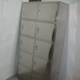 不锈钢10门更衣柜