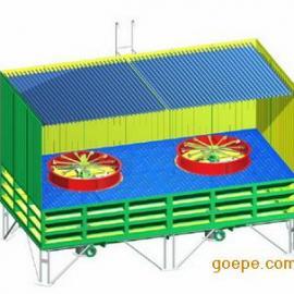 双佳方形节水节电低能耗无填料玻璃钢冷却塔