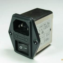 带开关保险管插座一体式滤波器 3A 220V CW2B