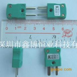 K型热电偶插头|欧洲标准K型绿色扁插