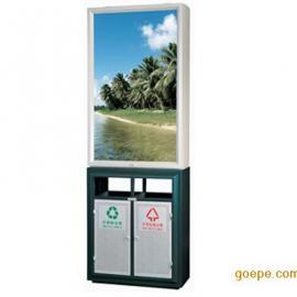 带广告灯箱分类垃圾桶户外大型垃圾箱 可根据客户需要定做