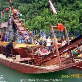 山东厂家直销运沙船-无需人工上料直接输送抽沙运输设备