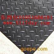 #黑色铁板纹胶皮走道垫*