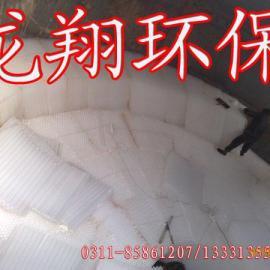 蜂窝斜管填料安装/石家庄龙翔环保设备