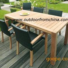 方形户外桌椅,简约休闲桌椅,户外家具