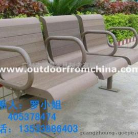 休闲木椅碳化木实木椅阳台露天长椅秦皇岛