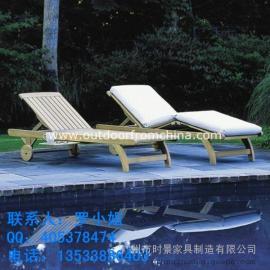 酒店实木躺椅,新会现货塑料沙滩椅,柚木沙滩椅