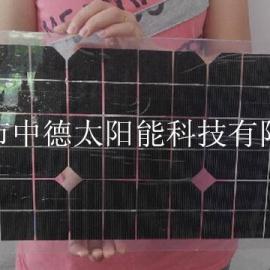 18V20W半柔性太阳能电池板,太阳能弯曲电池板