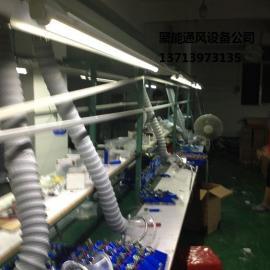 要做一个车间烙铁焊锡外排烟的管道系统焊锡工位烟雾