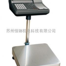 张家港不干胶打印电子台秤AG官方下载,75kg打印电子秤价格