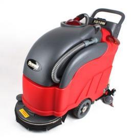 克力威全自动洗地机,纺织厂地面灰尘清洗机,手推式洗地机