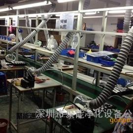 供应工厂焊锡排烟系统,电子厂焊锡烟雾处理管道风机安装