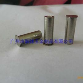 碳钢铁盲孔压铆螺母柱,不锈钢盲孔冲压螺母柱,挤压螺柱