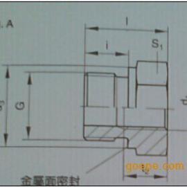 长期现货供应原装进口派克RI系列变径内螺纹接头