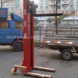 2吨2米手动升高车,HFB2020鸿福液压堆高机