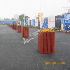 供应常规花箱-正方口长方体道路摆设花箱