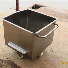 食品存储容器不锈钢槽 不锈钢料斗车 食品储存手推车