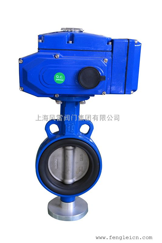 上海风雷电动蝶阀D971X,电动对夹蝶阀,智能型电动蝶阀