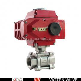 法登(VATTEN)VATTEN/法登不锈钢电动螺纹球阀VT2CEN33A