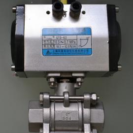 气动球阀Q611F 不锈钢气动螺纹球阀 四氟密封气动控制阀
