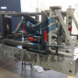 半导体封装设备机器人柔性焊接工装夹具,框架焊接工装夹具