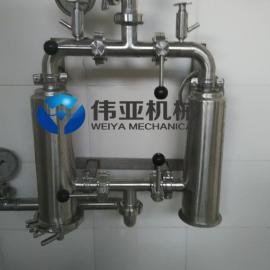 卫生级304双联管道过滤器,WY快装管道过滤器,呼吸器包邮
