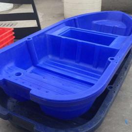 增城2米小型游览船2.5米带活鱼苍塑料小船3米河道清理船