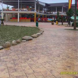 恩施园林景观地坪材料 宣恩彩色混凝土路面 巴东艺术压模地坪