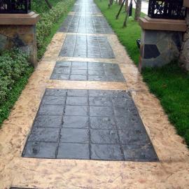 厂家施工 小区压花地坪 彩色艺术压花地坪 水泥混凝土压花地坪