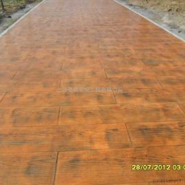 混凝土压花固化地坪 彩色透水混凝土地坪 艺术彩绘地坪