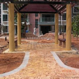 生态景观压花压模地坪 彩色透水地坪 景观混凝土路面地坪