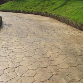 公园多款压模地坪 彩色艺术压模地坪 混凝土压印压模地坪
