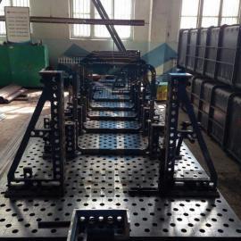 索道设备焊接组对工装系统,索道设备机器人柔性焊接工装夹具