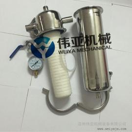 伟亚不锈钢除菌过滤器,304空气过滤器,蒸汽过滤器耐温