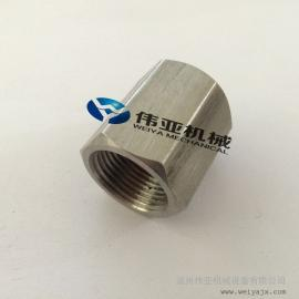 304不锈钢六角内丝接头 加工各种非标内丝转换接头