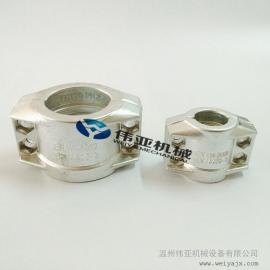 锻造铝合jin安全管夹、管卡、EN14420-3标准两片shibao箍