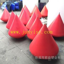 锥形塑料浮标、海上球形航标、施工警示