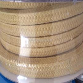 芳纶纤维盘根 骏驰出品超耐磨浸四氟浸油黄芳纶纤维盘根