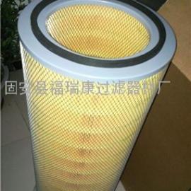 聚酯纤维覆膜无纺布除尘滤芯 滤筒K3266