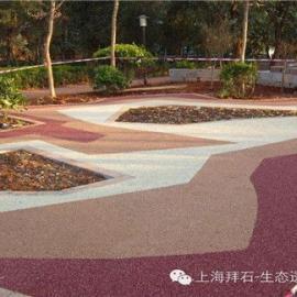 拜石供应安阳透水路面/彩色透水混凝土胶结料