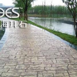 供应杨浦彩色水泥压花地坪/压模地坪材料