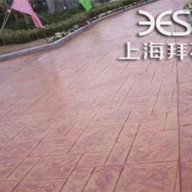 供应东台艺术压模地坪/小区压膜地坪厂家出售