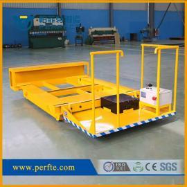 帕菲特直流电线供电轨道搬运车10吨喷漆房电动平板车